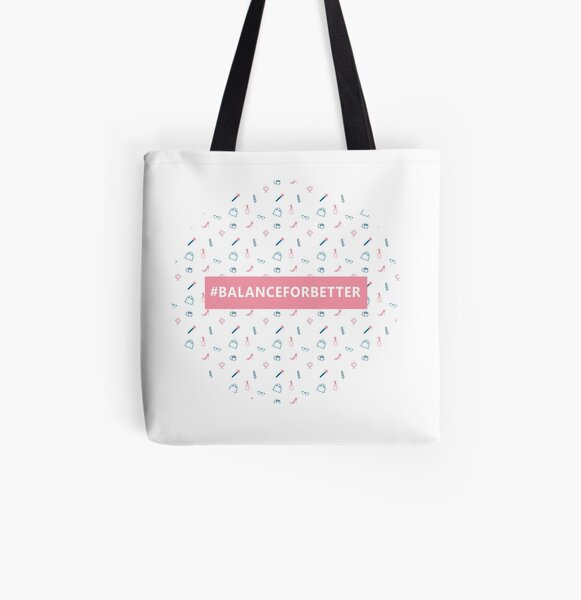 Balance For Better Pattern All Over Print Tote Bag