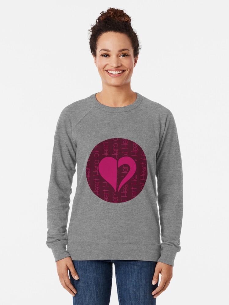 Alternate view of Hero Of Heart Lightweight Sweatshirt