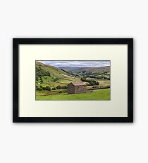 Swaledale Panorama - The Yorkshire Dales Framed Print