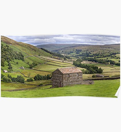 Swaledale Panorama - The Yorkshire Dales Poster