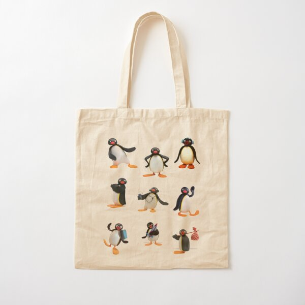 Pingu mood Cotton Tote Bag