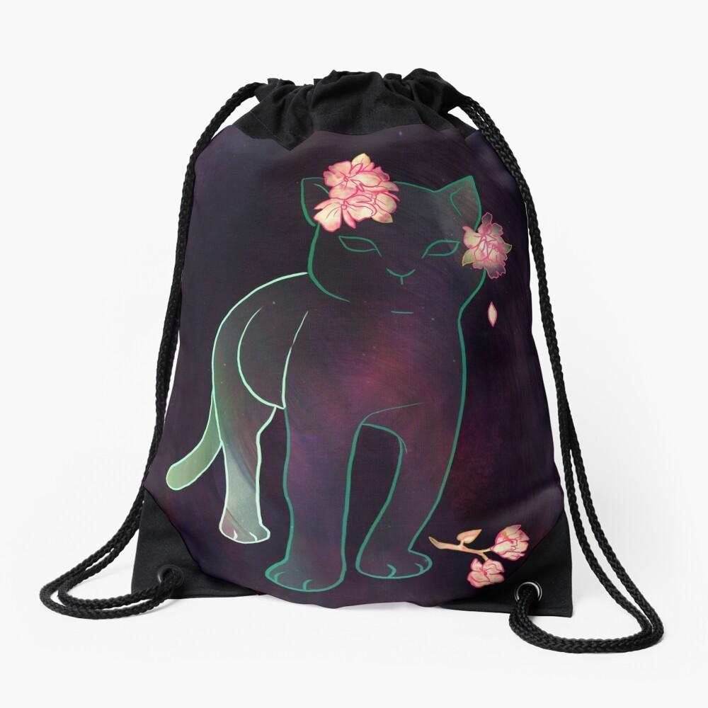 Ghost kitten Drawstring Bag