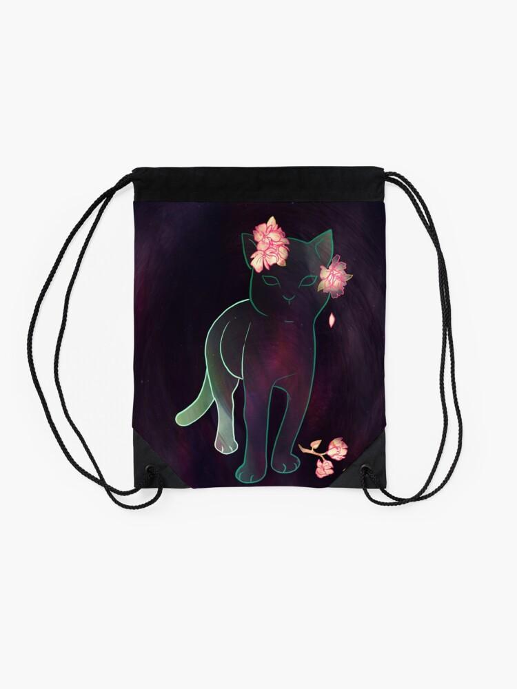 Alternate view of Ghost kitten Drawstring Bag