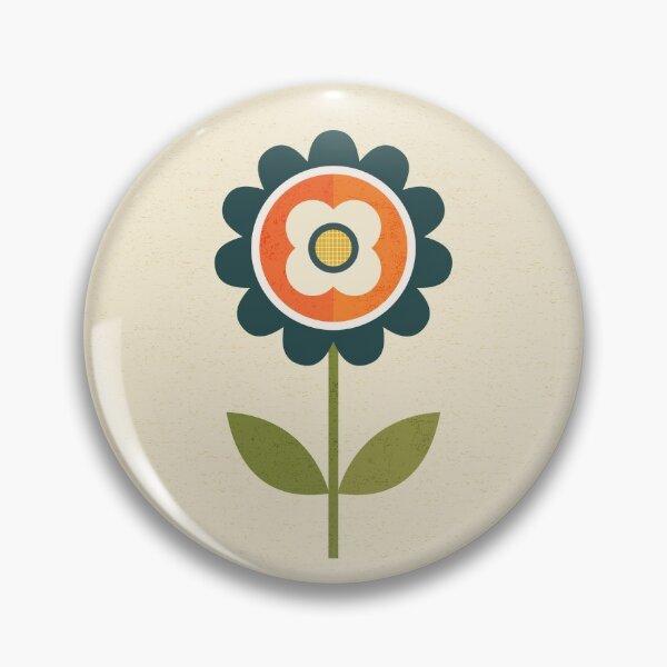 Retro Daisy - Orange and Cream Pin