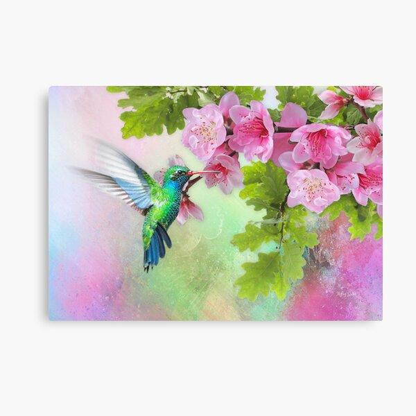 Hummingbird &  Cherry Blossom (Please Read Description) Canvas Print