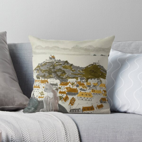 Cats of St Ives Throw Pillow