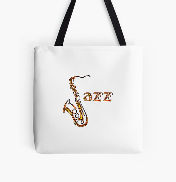 Jazz Time3 All Over Print Tote Bag
