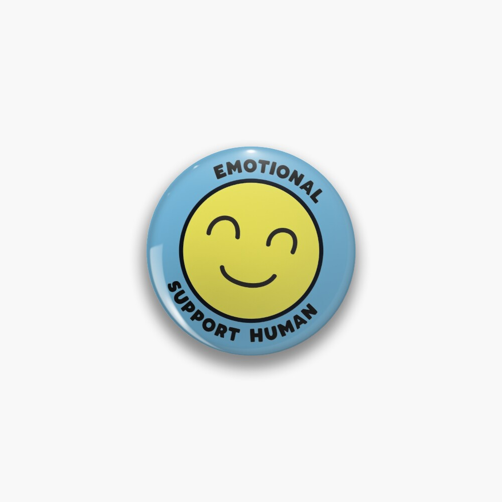 Emotional Support Human Pin