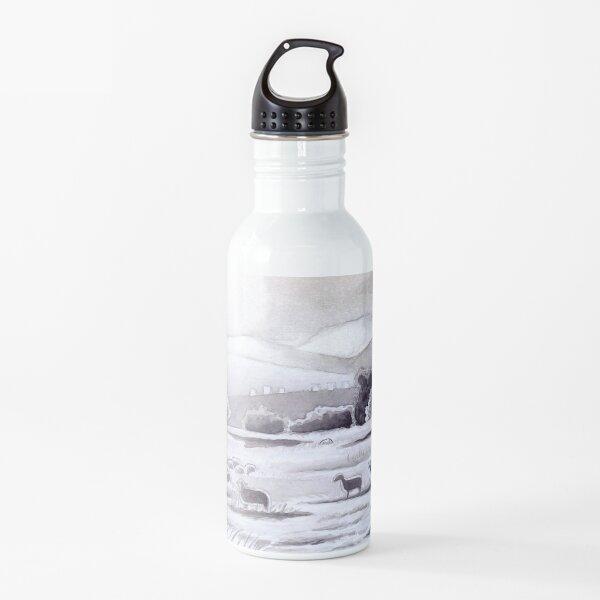 Countryside Charming Sheep in Ibiza Water Bottle
