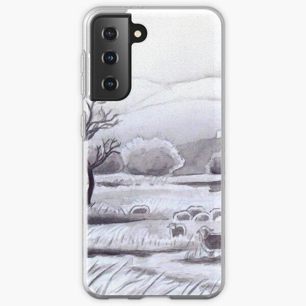 Countryside Charming Sheep in Ibiza Samsung Galaxy Soft Case