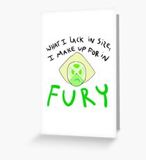 Fury - Peridot Greeting Card