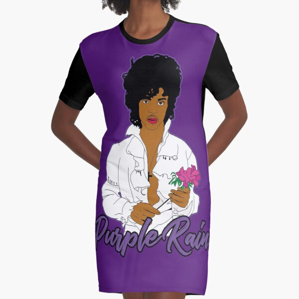 Purple Rain Graphic T-Shirt Dress