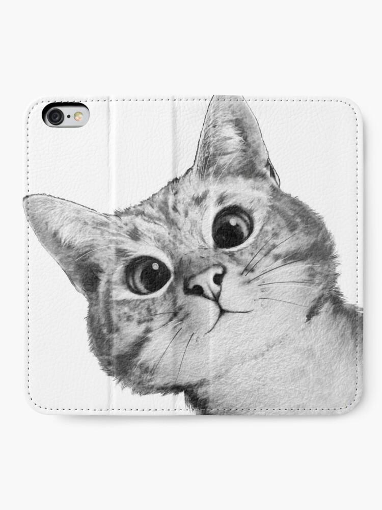 Alternate view of sneaky cat iPhone Wallet