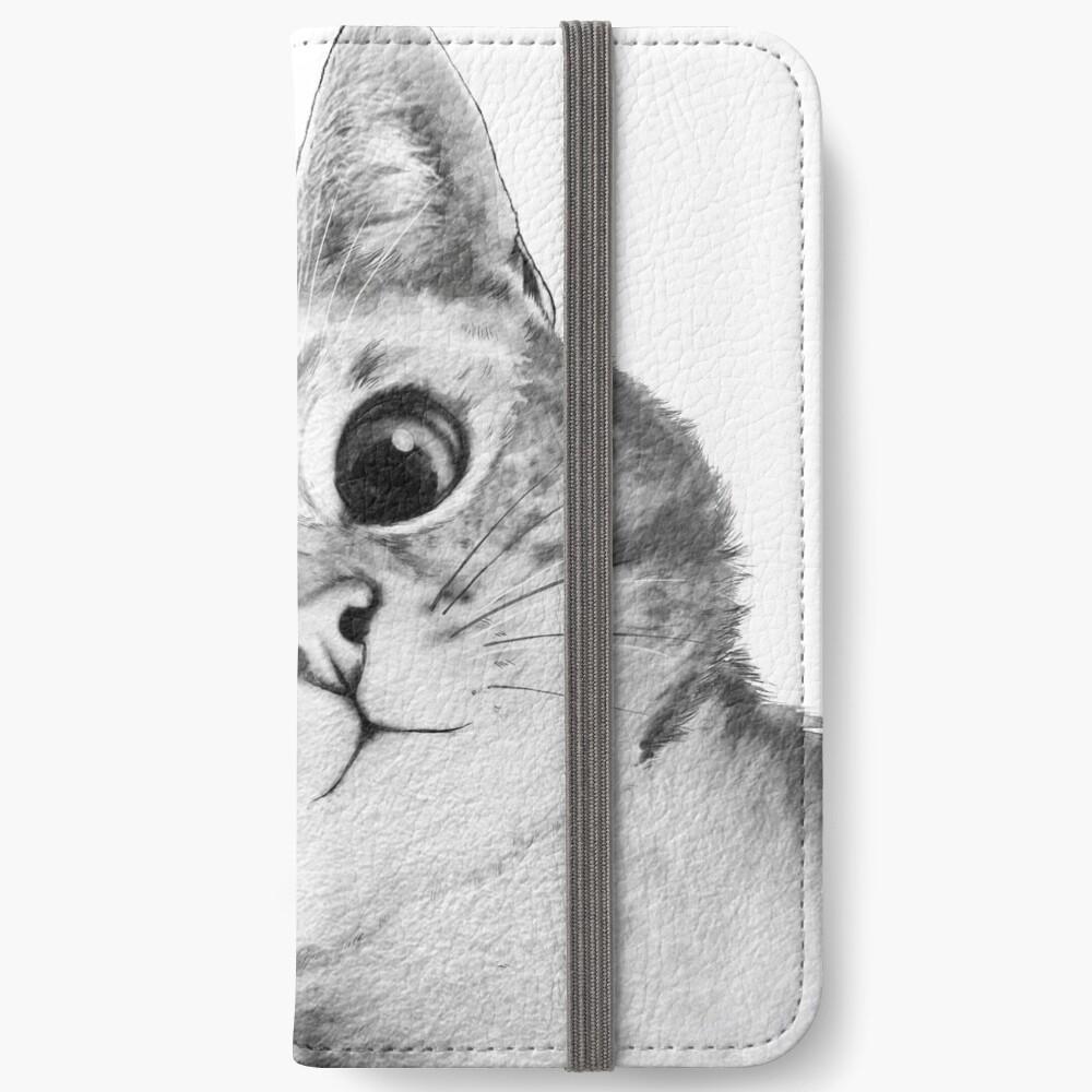 sneaky cat iPhone Wallet