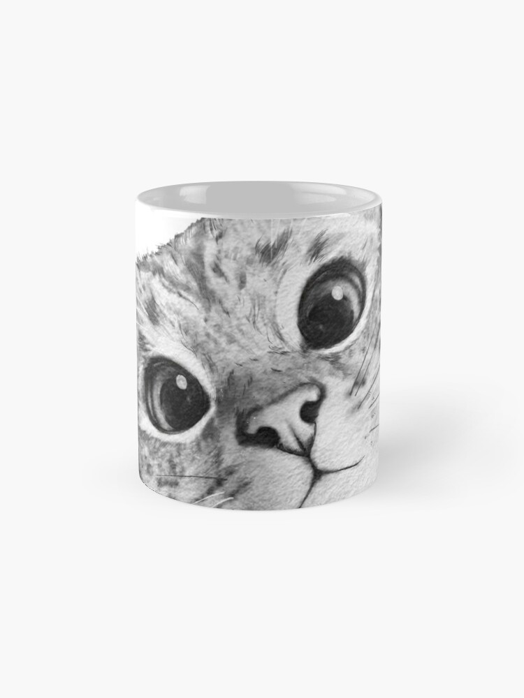 Alternate view of sneaky cat Mug