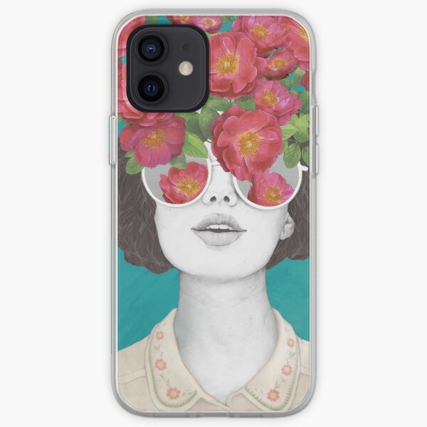 The optimist // rose tinted glasses iPhone Soft Case