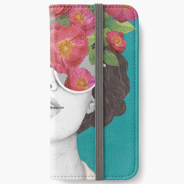 The optimist // rose tinted glasses iPhone Wallet