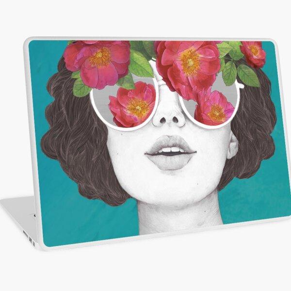 The optimist // rose tinted glasses Laptop Skin