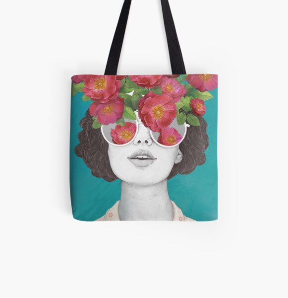 The optimist // rose tinted glasses All Over Print Tote Bag