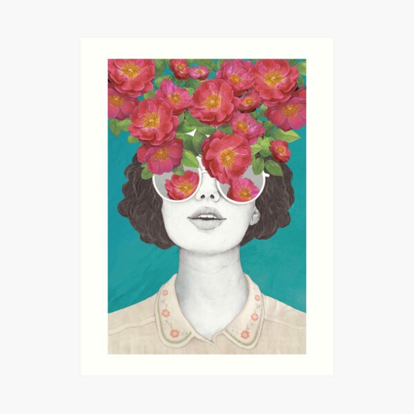 Der Optimist // Rose getönte Brille Kunstdruck