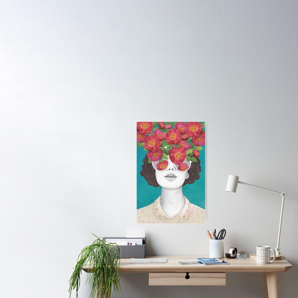 Der Optimist // Rose getönte Brille Poster