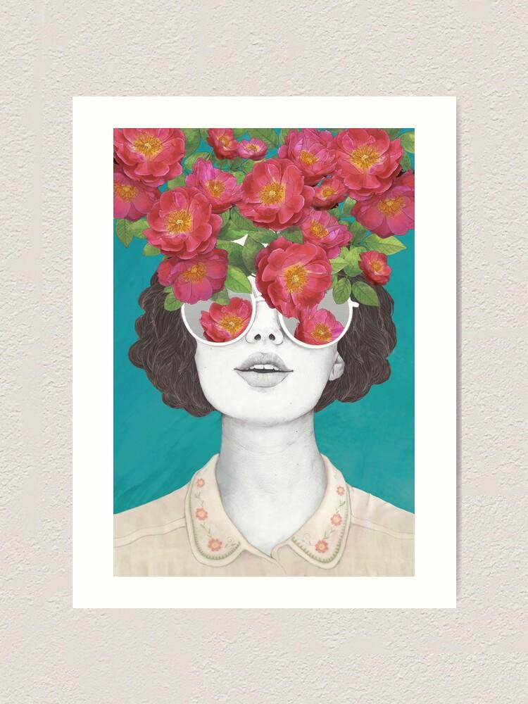 Alternate view of The optimist // rose tinted glasses Art Print