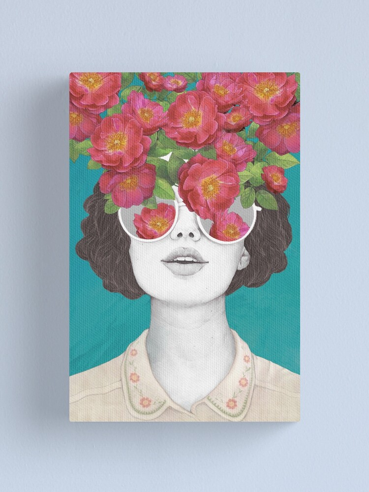 Alternate view of The optimist // rose tinted glasses Canvas Print