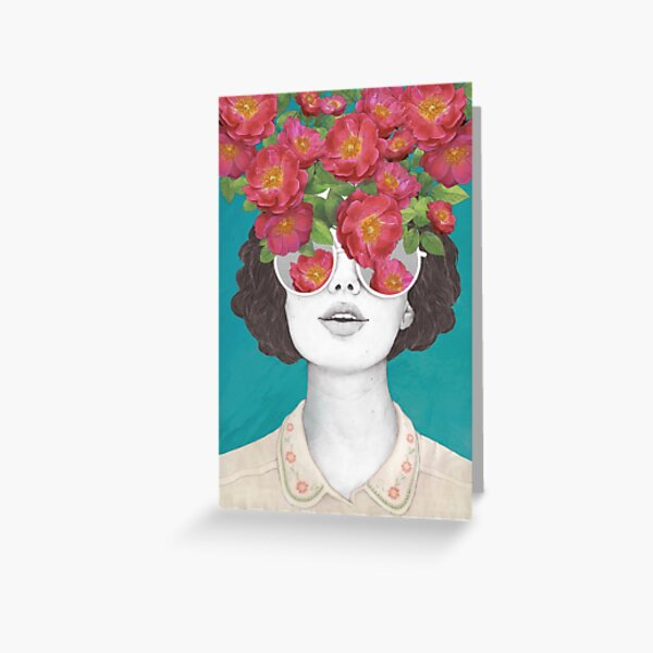 The optimist // rose tinted glasses Greeting Card