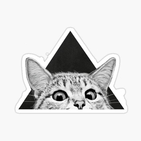 gato Pegatina