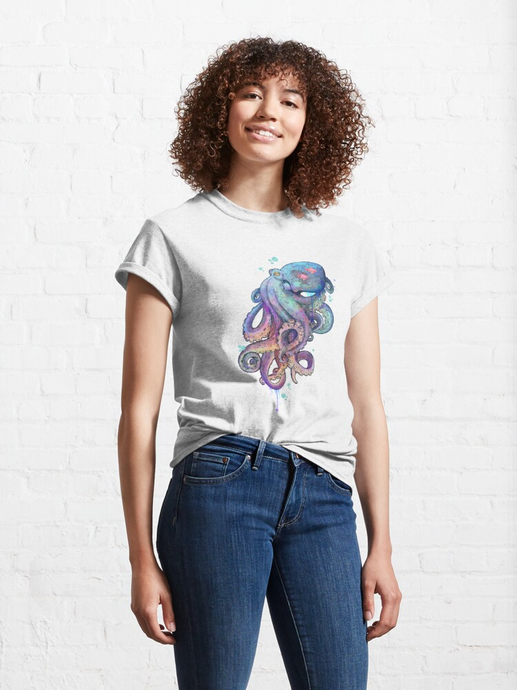 Alternate view of octopus  Classic T-Shirt