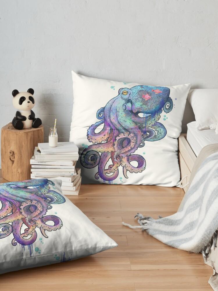 Alternate view of octopus  Floor Pillow