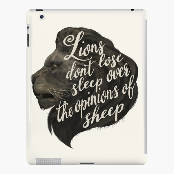 Lions don't lose sleep over the opinions of sheep iPad Snap Case