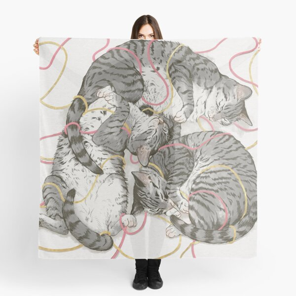 cats /rose and gold Scarf