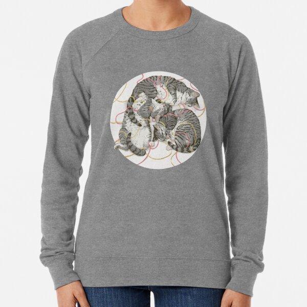 cats /rose and gold Lightweight Sweatshirt