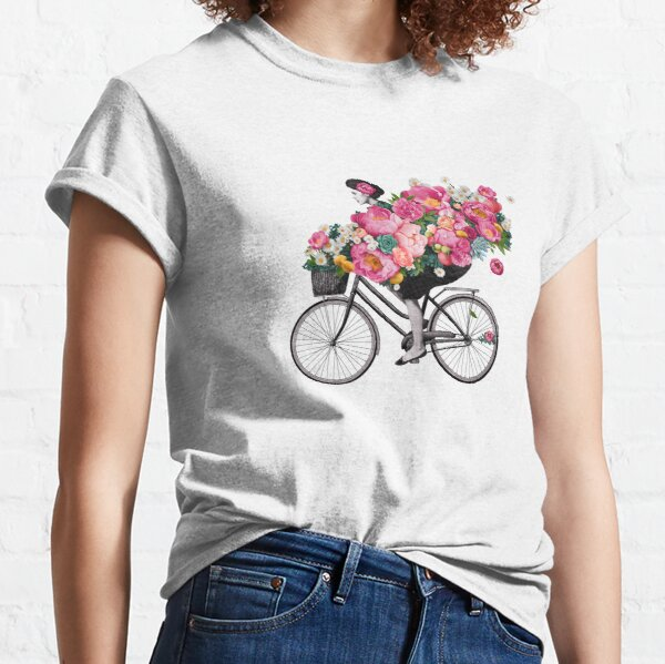 floral bicycle  Classic T-Shirt