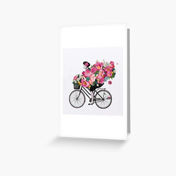 floral bicycle  Greeting Card