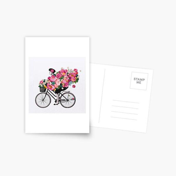 floral bicycle  Postcard