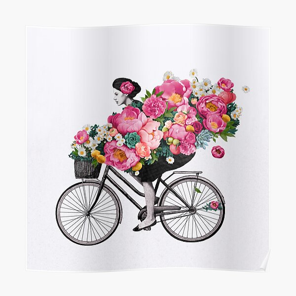 floral bicycle  Poster