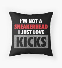 I'm not a Sneakerhead I just Love Kicks - Speckled Throw Pillow