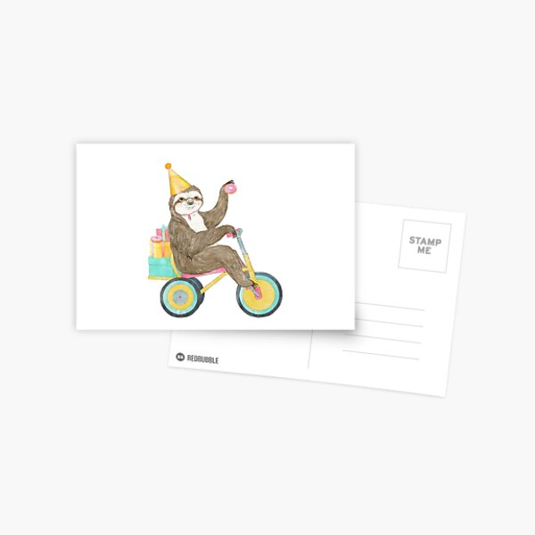 Birthday Sloth Postcard