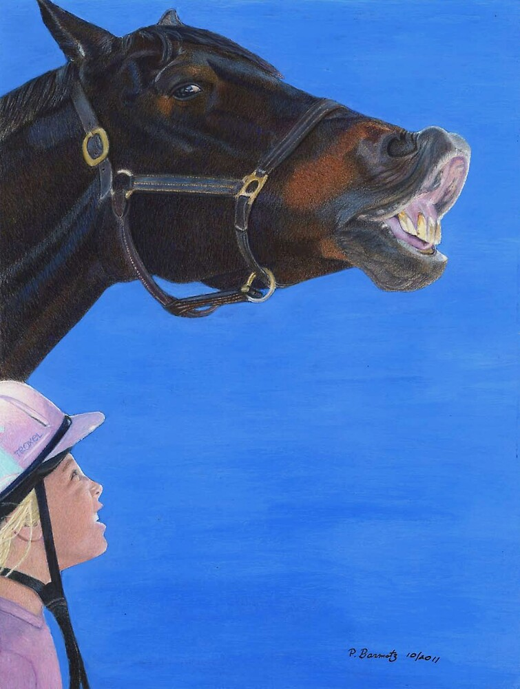 Funny Face - Horse making funny face by Patricia Barmatz
