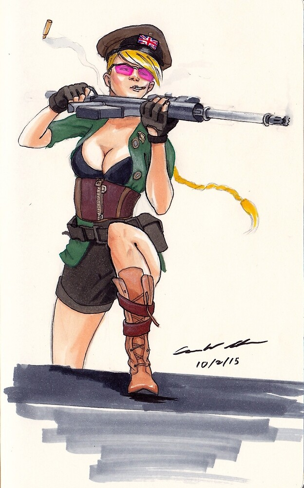 British Sniper chick by Cameron Archer