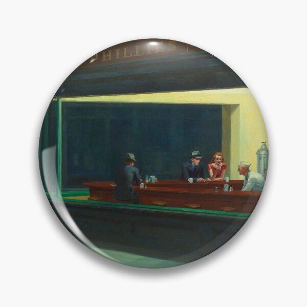 AMERICAN ARTIST. Edward Hopper, Nighthawks, 1942. Pin