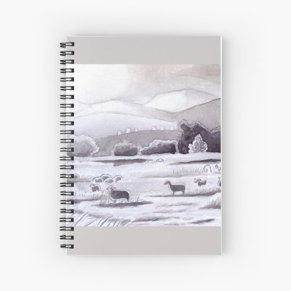 Countryside Charming Sheep in Ibiza Spiral Notebook