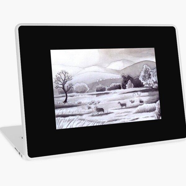Countryside Charming Sheep in Ibiza Laptop Skin