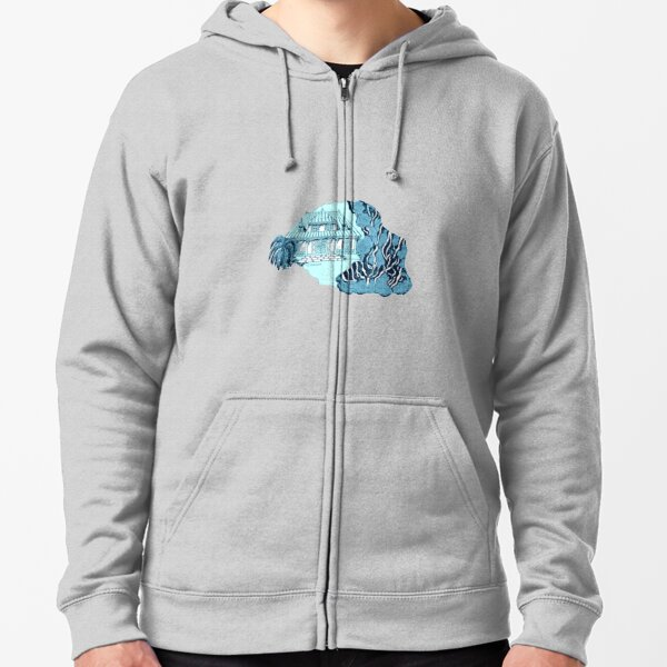 Reunion Island. Color background Zipped Hoodie