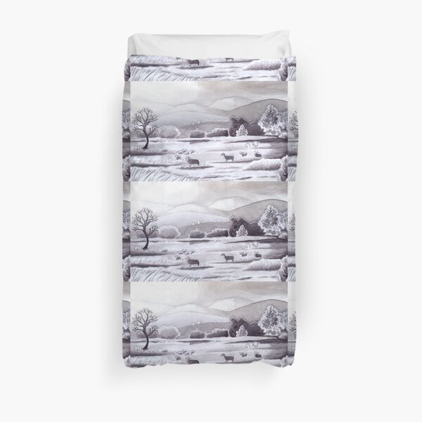 Countryside Charming Sheep in Ibiza Duvet Cover