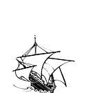Sailing ship by chiaraggamuffin
