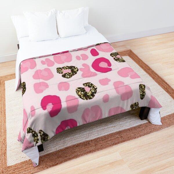 Pink Leopard Comforter