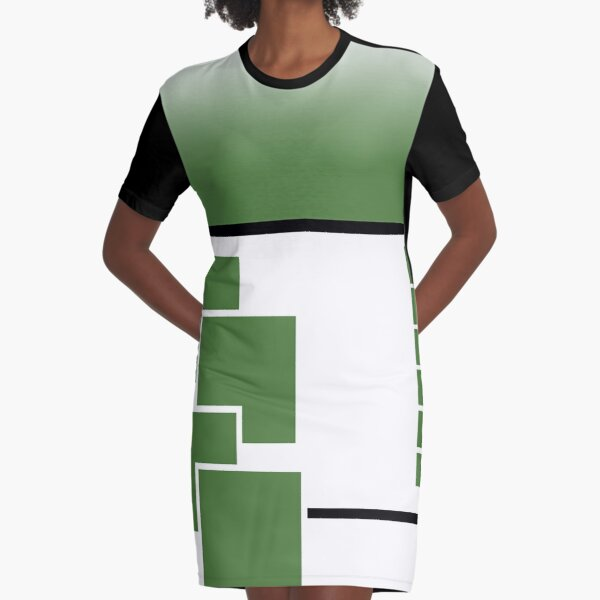 Squared Up Graphic T-Shirt Dress